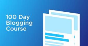 kickstart blogging 100 days blogging course webosky